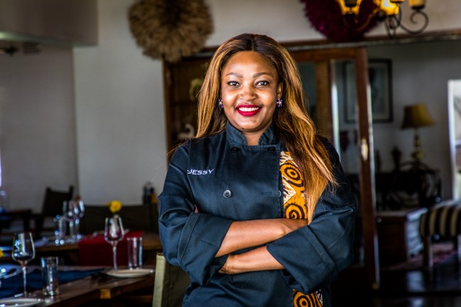 Jessy Chipindo, restaurant owner and client of Oikocredit partner Entrepreneurs Financial Centre (EFC) Zambia.